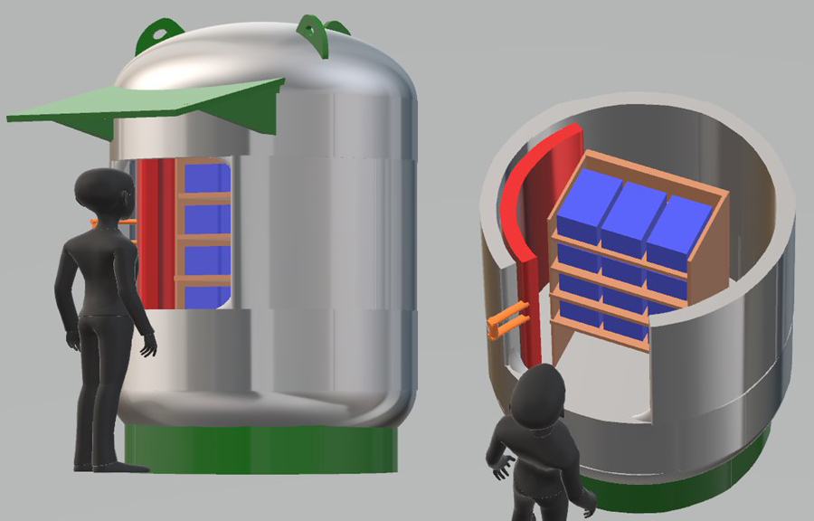 explosives storage chamber